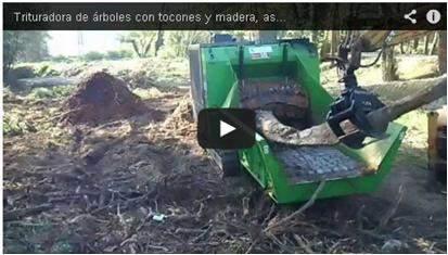 Video de la maquina trituradora trabajando