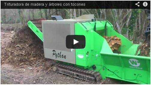 Video de la máquina trituradora trabajando