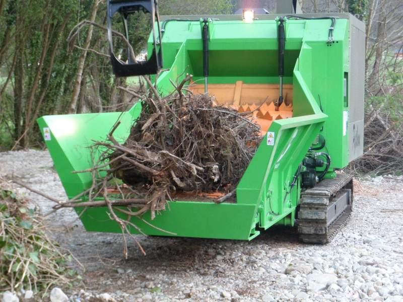 Máquina de trituración de árboles y madera