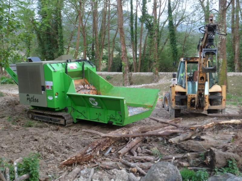 Máquina de trituración de madera
