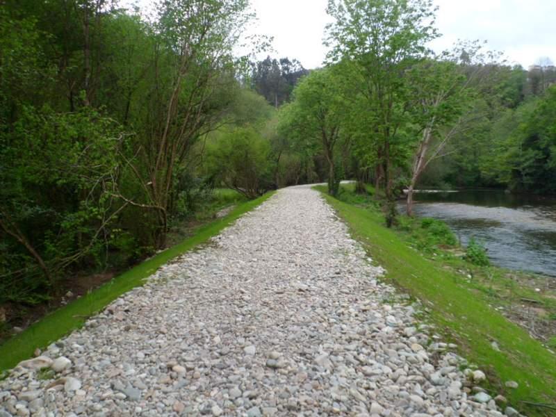 Obra finalizada en el río Esva